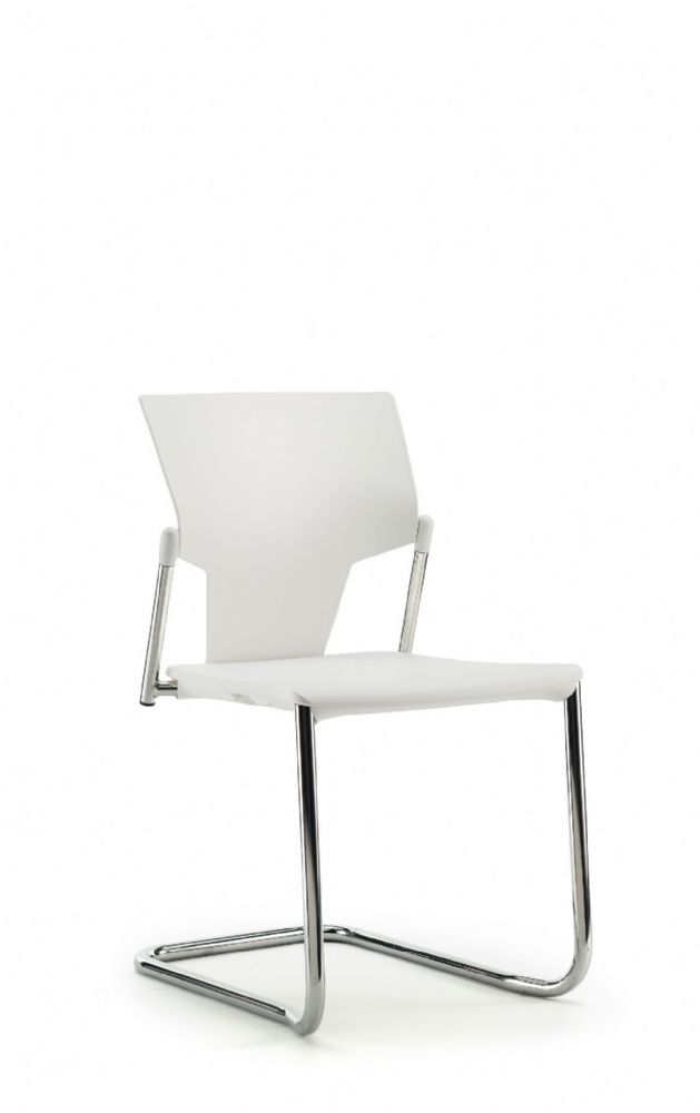Pledge Ikon Chair With Plastic Seat And Back with Cantilever Frame